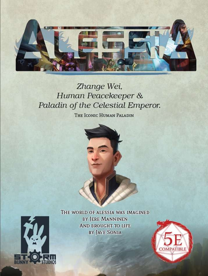 Alessia Promo PDF - Zhang Wei, Human Peacekeeper and Paladin of the Celestial Emperor