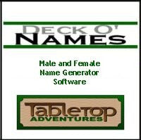 Deck O' Names: Male and Female Generator
