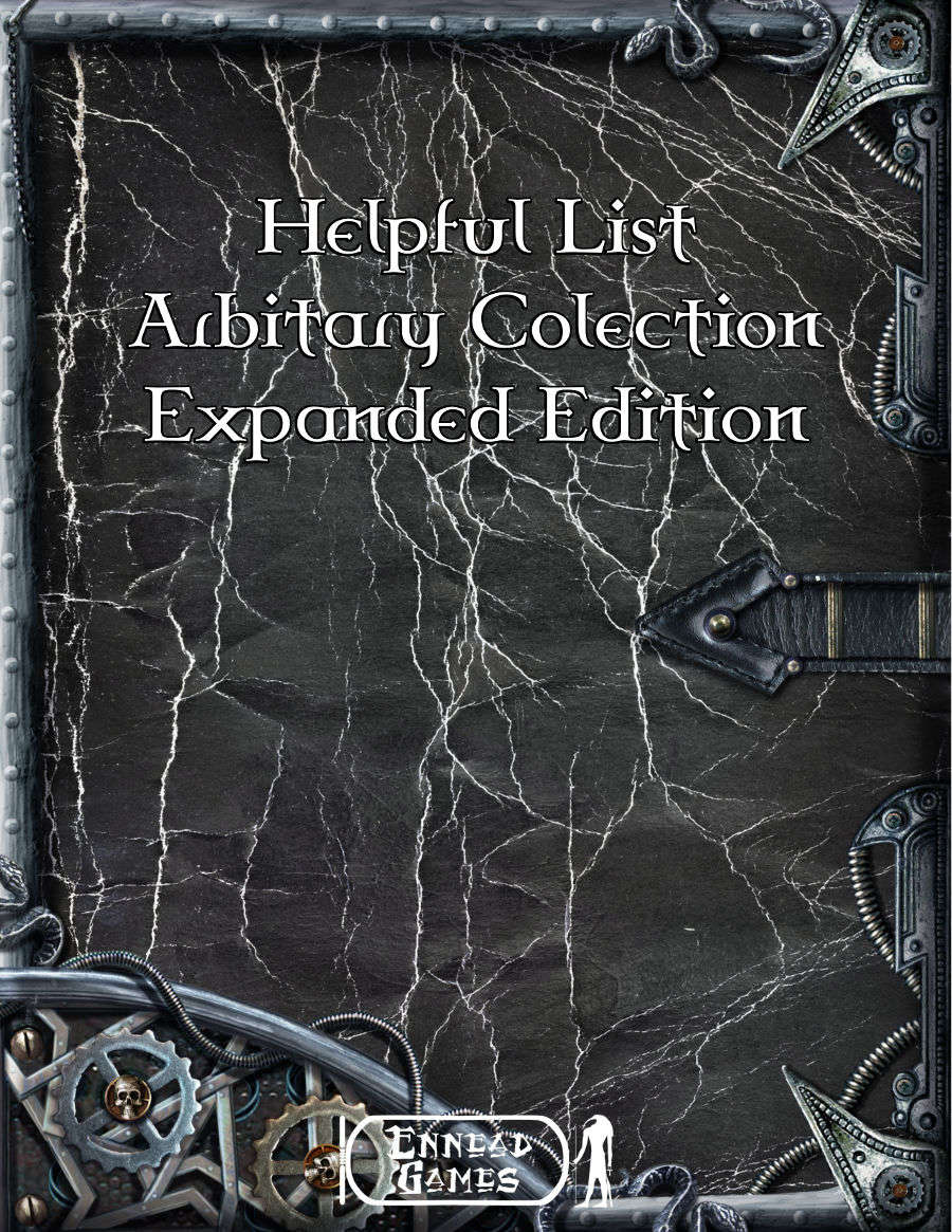 Helpful List Arbitrary Collection Expanded Volume 1