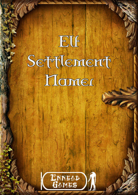 Elf Settlement Namer