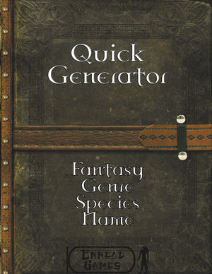 Quick Generator - Fantasy Genre Species Name