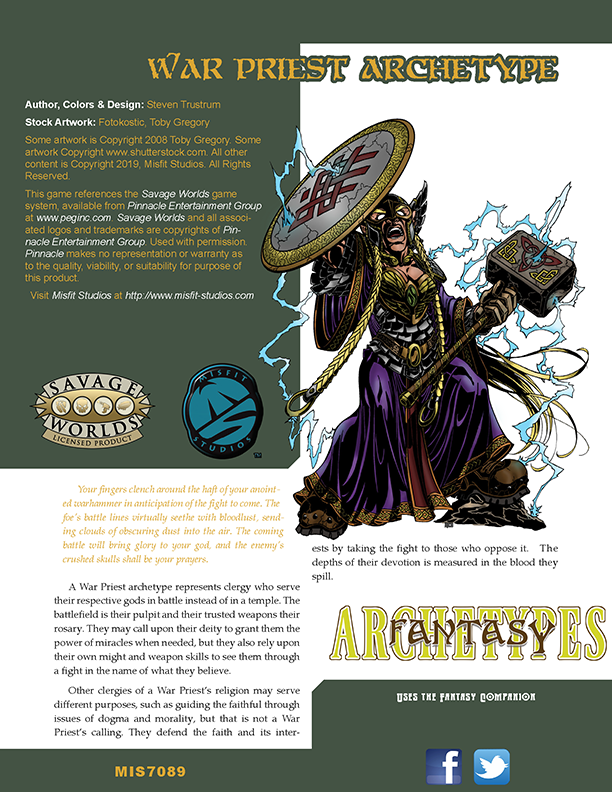 Fantasy Archetypes: War Priest