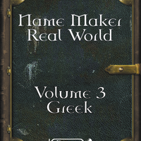 Name Maker Real World Volume 3 Greek