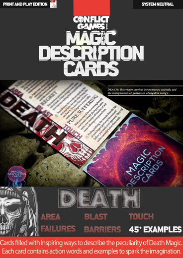 Magic Description Cards: Death Magic