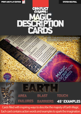 Magic Description Cards: Earth Magic