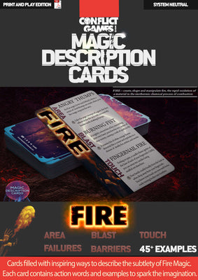 Magic Description Cards: Fire Magic