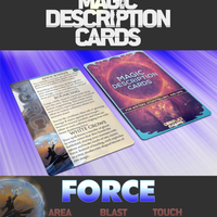 Magic Description Cards: Force Magic