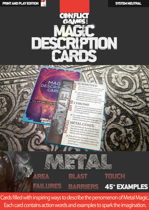 Magic Description Cards: Metal Magic