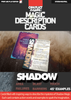 Magic Description Cards: Shadow Magic