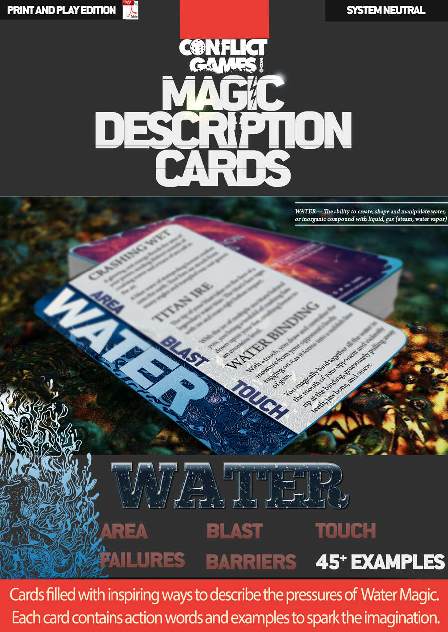 Magic Description Cards: WATER MAGIC