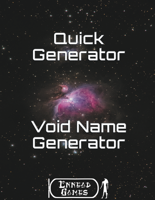 Quick Generator - Void Name Generator