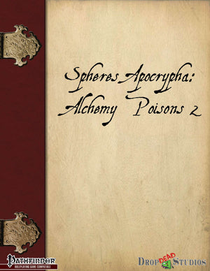 Spheres Apocrypha: Alchemy Poisons 2