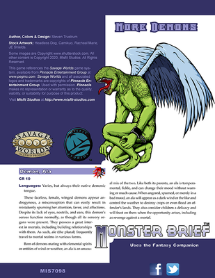 Monster Brief: More Demons