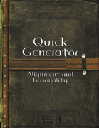 Quick Generator - Alignment and Personality