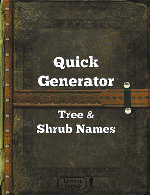 Quick Generator Tree & Shrub Names