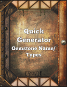 Quick Generator Gemstone Names/Types