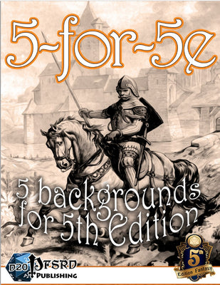 5-for-5e Book 2: 5 Backgrounds for 5th Edition