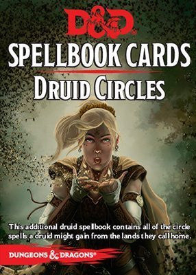 D&D SpellBook Cards - Druid Circles Cards (21 Cards)