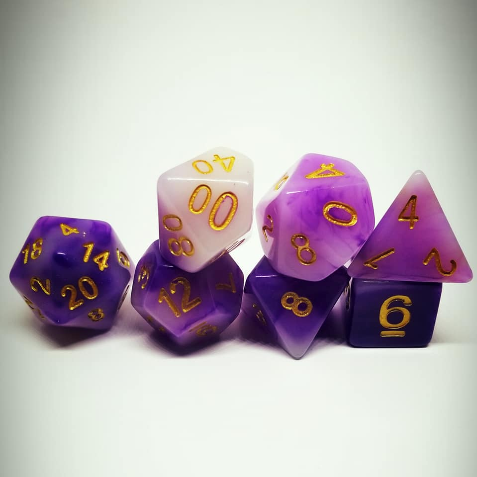 Purple Reign Dice Set