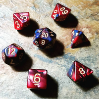 Midnight Heart Polyhedral 7 Die Set