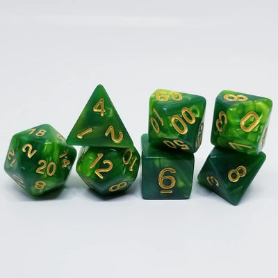 Verdant Poise 7 Dice Set