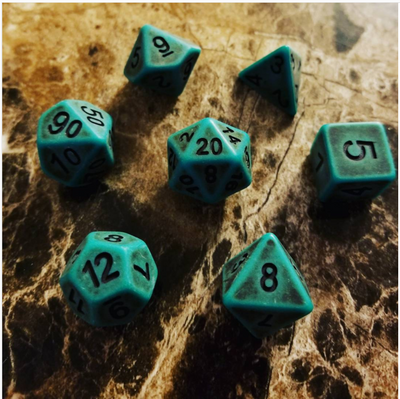 Cthulhu Green Dice Set