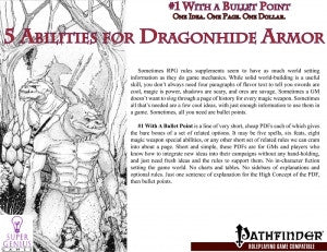 #1 with a Bullet Point: 5 Abilities for Dragonhide Armor
