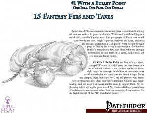 #1 with a Bullet Point: 15 Fantasy Fees and Taxes