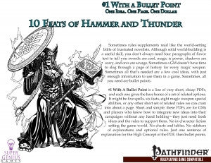 #1 with a Bullet Point: 10 Feats of Hammer and Thunder