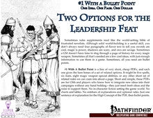 #1 with a Bullet Point: 2 Options for the Leadership Feat