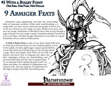 #1 with a Bullet Point: 9 Armiger Feats