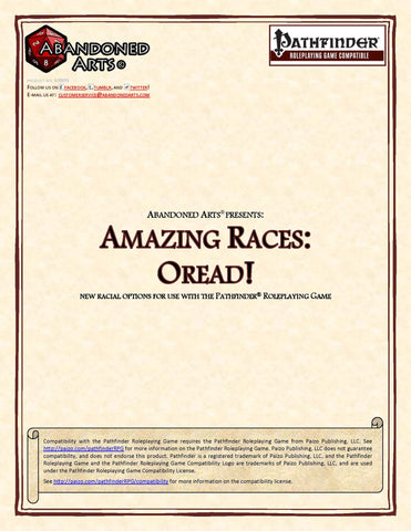 Amazing Races: Oread!