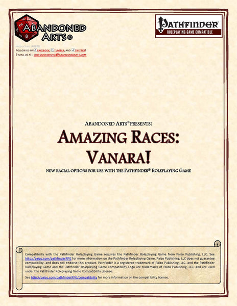 Amazing Races: Vanara!