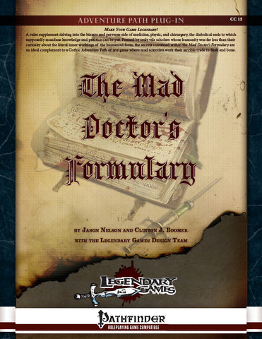 The Mad Doctor's Formulary