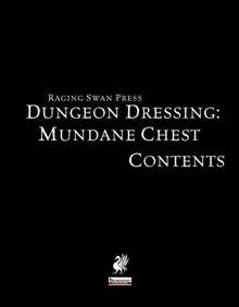 Dungeon Dressing: Mundane Chest Contents