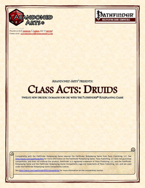 Class Acts: Druids