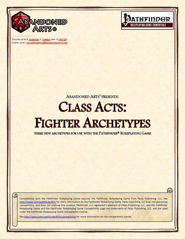 Class Acts: Fighter Archetypes