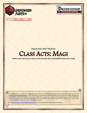 Class Acts: Magi
