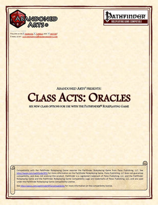 Class Acts: Oracles