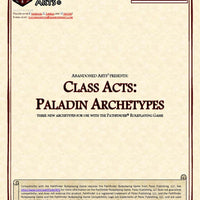 Class Acts: Paladin Archetypes