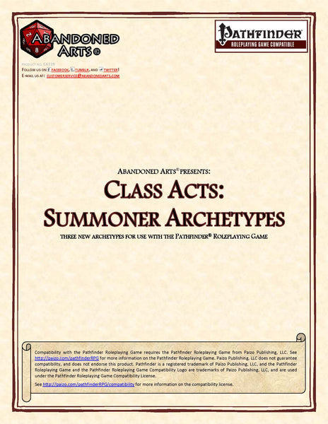 Class Acts: Summoner Archetypes