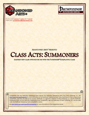 Class Acts: Summoners