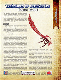 Treasures of NeoExodus: Malice Blade