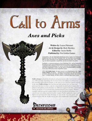 Call to Arms: Axes and Picks