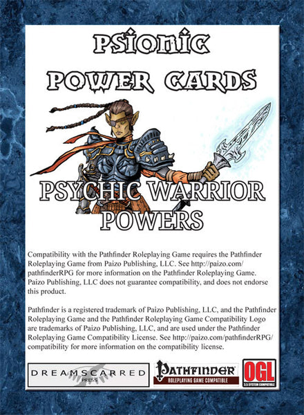 Psionic Power Cards: Psychic Warrior