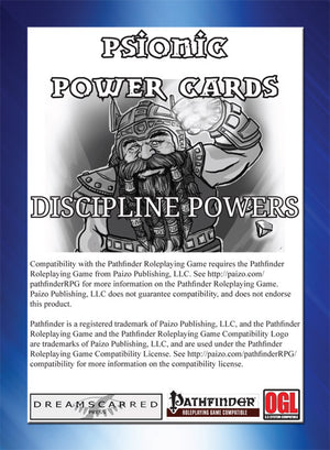 Psionic Power Cards: Discipline Powers