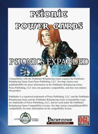 Psionic Power Cards: Psionic Expanded