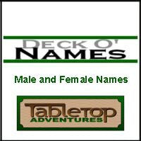 Deck O' Names: Male and Female