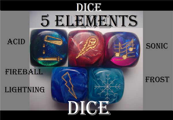 5 Elements d6s Dice Set