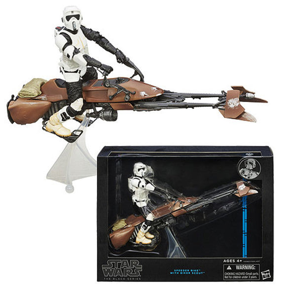 "Star Wars: The Black Series - Scout Trooper With Speeder Bike 6"" Action Figure Set"